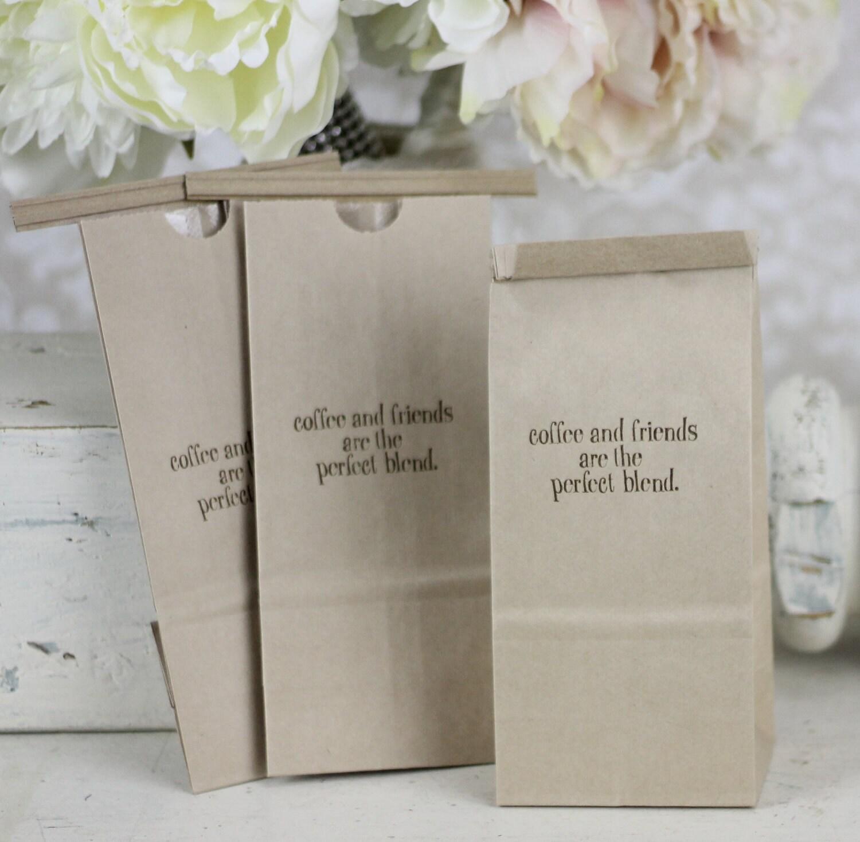 Rustic Wedding Favor Bags Kraft Paper Coffee Bar By Braggingbags