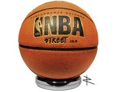 Ultra Premium Polished Signed Basketball Soccer Bowling Ball Display Stand
