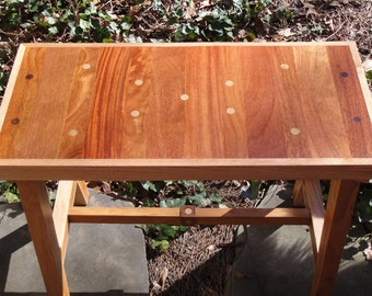 Bench Reclaimed Teak and Oak 28 1/2 Inch