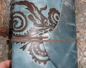 Abstract Paisely Floral Handmade Leather Journal Free Personalization