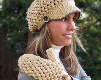 Lalita Newsboy Hat Crochet Pattern