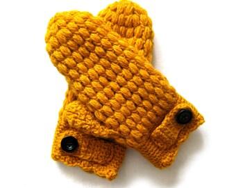 Puff Mittens Crochet Pattern