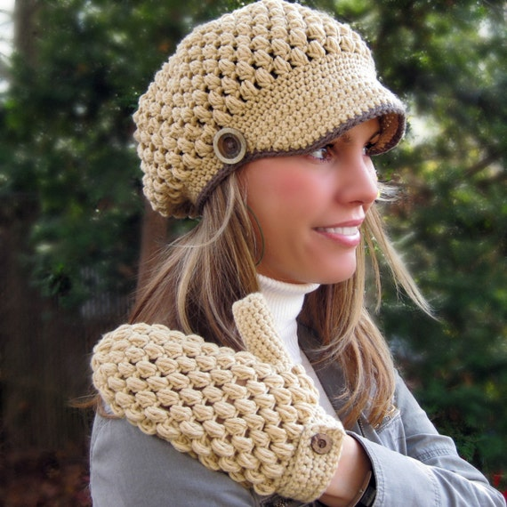 Lalita Newsboy Hat Crochet Pattern by CrocheTrend on Etsy