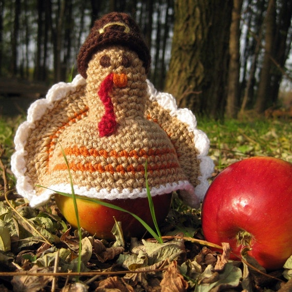 Turkey Apple Warmer Crochet Pattern