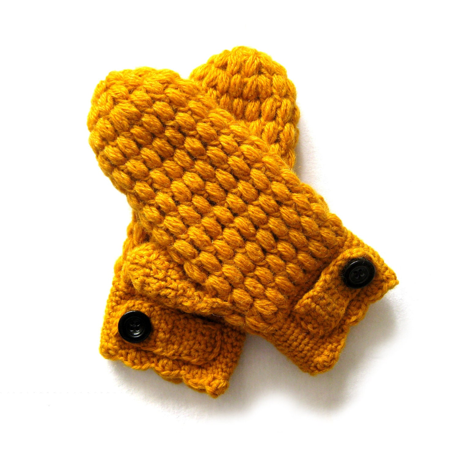 Puff Mittens Crochet Pattern by CrocheTrend on Etsy