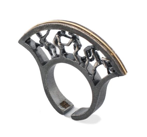 Circle of Life Ring (Comes with Climbing Man Pin Gift )