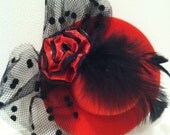 Mini Top Hat Red and Black