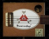 RESERVED for MARKALAN only - 4 String Cigar Box Guitar - Van Gogh Special Edition -