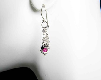 "Swarovski Crystal Earrings, ""Charming"" by Whimsy Beading"