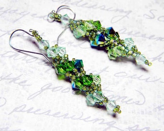 Swarovski Crystal Short Custom Color Earrings