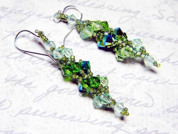 Swarovski Crystal Short Custom Color Earrings