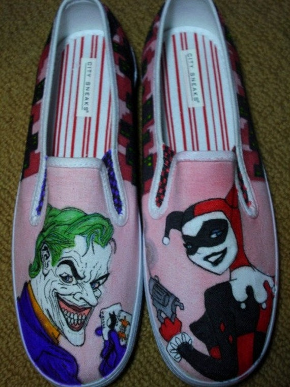 Made to Order JOKER and HARLEY QUINN shoes