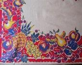 Fruity Vintage Tablecloth - Carmen Miranda Would Love This