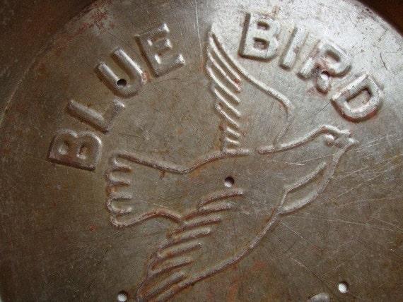Vintage Blue Bird Pie Pan