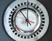 1955 - 1957 Pontiac Hubcap Wall Clock - 1956 Star Chief Chieftain Catalina Safari Station Wagon
