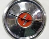 Studebaker Hubcap Clock - 1962 1963 Studebaker Lark Wall Clock - Retro Car Clock - Garage Clock - S Initial