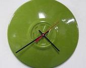 Volkswagen Hubcap Clock - VW Beetle Wall Clock - Avocado Green Clock - Volkswagon