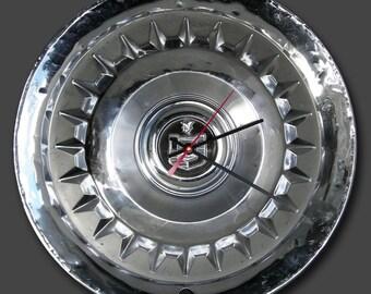 1959 Mercury Hubcap Clock Wall Clock - Retro Car Clock - Monterey