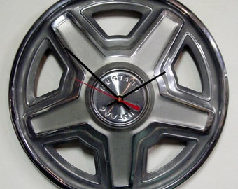1969 Ford Mustang Hubcap Clock - Classic Car Wall Clock - '69 and oh so FINE