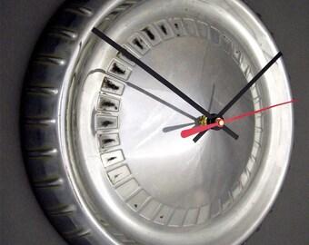 Mercury Hubcap Clock - 1960 1961 Comet Retro Wall Clock