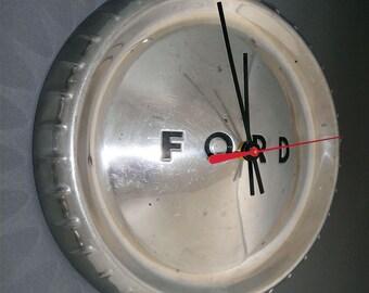 1960 - 1963 Ford Falcon and Ranchero Wall Clock - Chrome Bottle Cap - 1961 1962