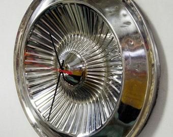 1961 Dodge Dart Polara Hubcap Wall Clock - Chrysler Classic Car Hub Cap - Modern Retro Mopar Decor
