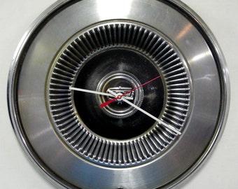 1972 - 1977 Ford Maverick / Mercury Comet Wall Clock - 1970's Retro Car Hub Cap - 1973 1974 1975 1976 - Dorm Decor