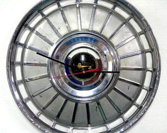 1962 Ford Galaxie Hubcap Wall Clock - Classic Car Decor
