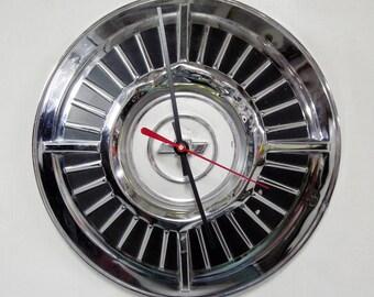 1963 Chevrolet Impala / Bel Air / Biscayne Hubcap Wall Clock - Chevy Bowtie Retro Classic Car Decor