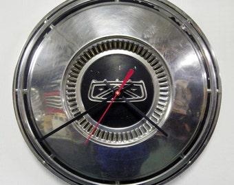 1967 - 1972 Ford Hubcap Clock - Wall Clock - Falcon, Fairlane, Custom 500, F100 Pickup Truck - 1968 1969 1970 1971