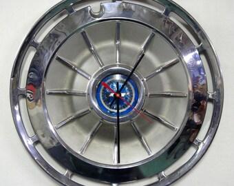 1962 Chevy Wall Clock - Chevrolet Impala Corvair Chevy II Hubcap Clock
