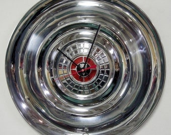 1956 Chrysler Windsor Saratoga Hubcap Clock - 50's Car Wall Clock