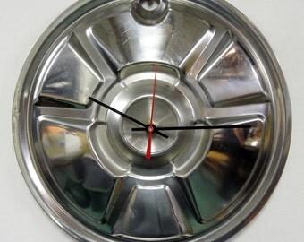 1974 Mazda 808 Hubcap Clock  - Car Wall Clock