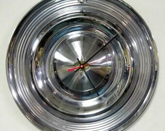 1957 Oldsmobile Hubcap Clock - Classic Car Hub Cap