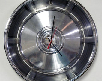 Cadillac Hubcap Clock - 1966 - 1967 Eldorado, Fleetwood, Coupe de Ville, Sedan de Ville, Calais Hubcap Wall Clock