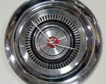 1963 Rambler Wall Clock - Automotive Hubcap Clock - AMC - American Motors