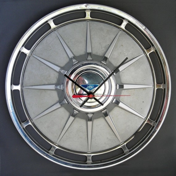 1961 Chevy Corvair Hubcap Clock - Chevrolet Corvair Wall Clock