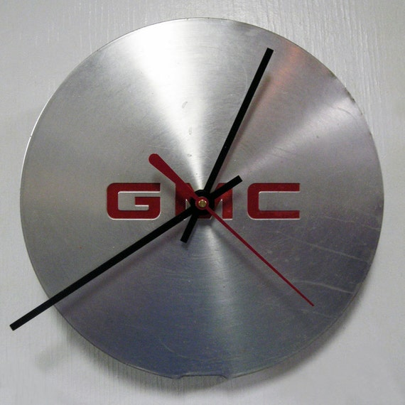 Recycled Clock made from a 1996 - 1998 GMC Jimmy Hubcap - 1997 Hubcap Clock