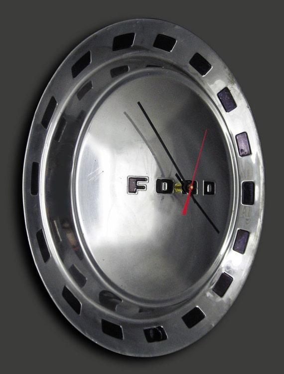 1952 Ford Hubcap Clock - Classic Car Wall Clock