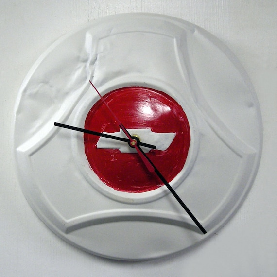 1964 1966 Chevy Pickup Hubcap Clock Retro 1965 Chevrolet