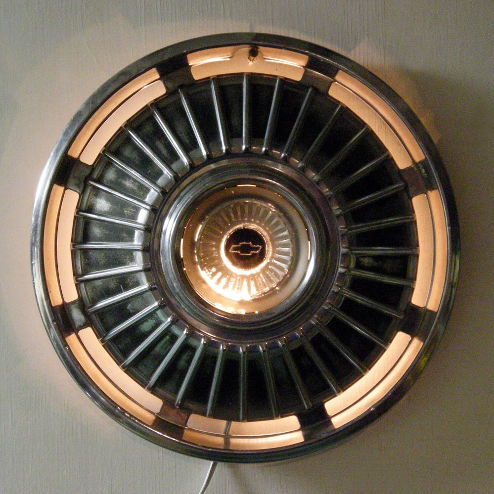 Hanging Lamp 1964 Chevy Chevelle Hubcap Wall Lighting Wall