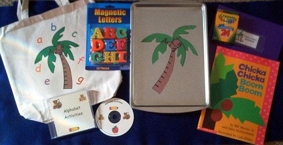 Chicka Chicka Boom Boom Flannel Board and Felt Set Storytelling Literacy Bag
