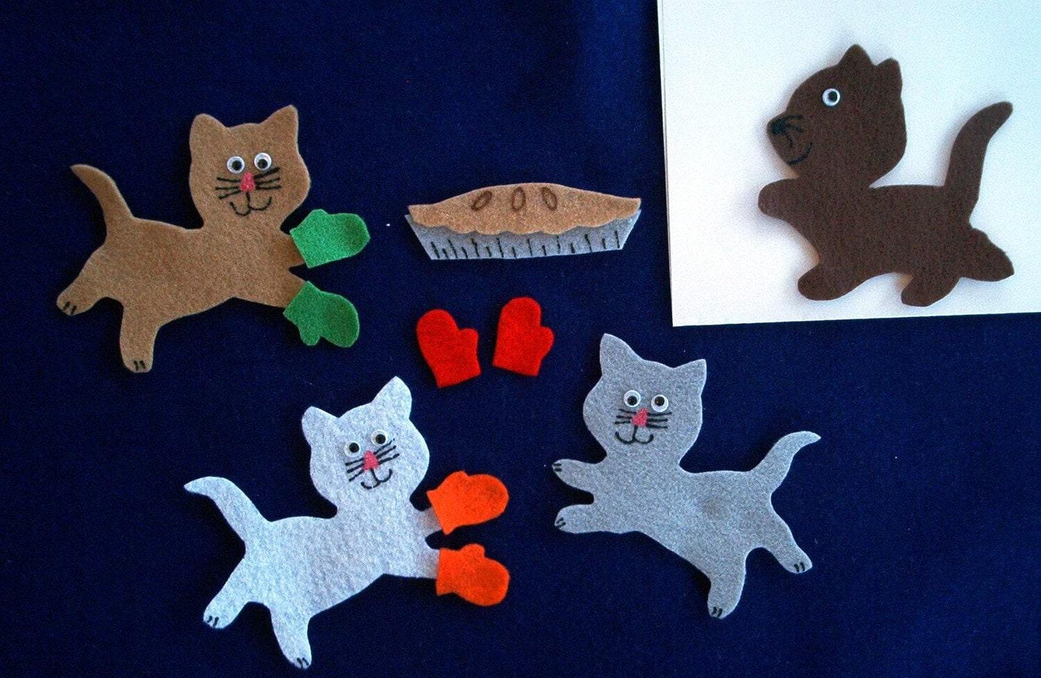3 Little Kittens Flannel Board Felt Story Set And Bonus Felt