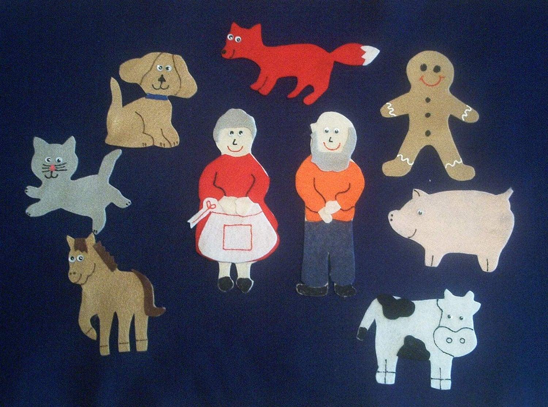The Gingerbread Man Flannel Board Felt Story Set by feltresources