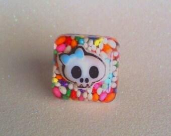 Sugar Skull Sprinkle Ring