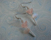 Pink Spring Garden Glass Bead Flower Earrings