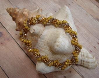 Seed Bead Crochet Bracelet