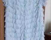 Chevette frilly robe, housecoat