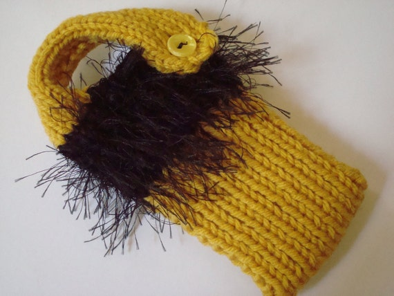Gold And Black Knit Cell Phone Sweater