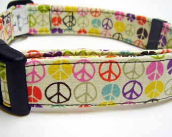 Doodlebug Dud's Little Peace Signs Collar
